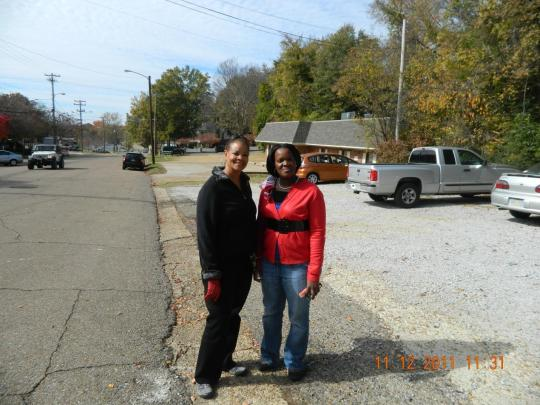 Kenya T. Barry and Evelyn Russell of Manassas, Virginia, after enjoying the program