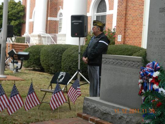 Mr. Charles Underhill and the POW/MIA Chair