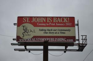 The Real Story billboard